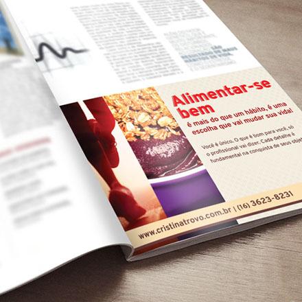 Anúncio Alimentar-se Bem - revista Revide