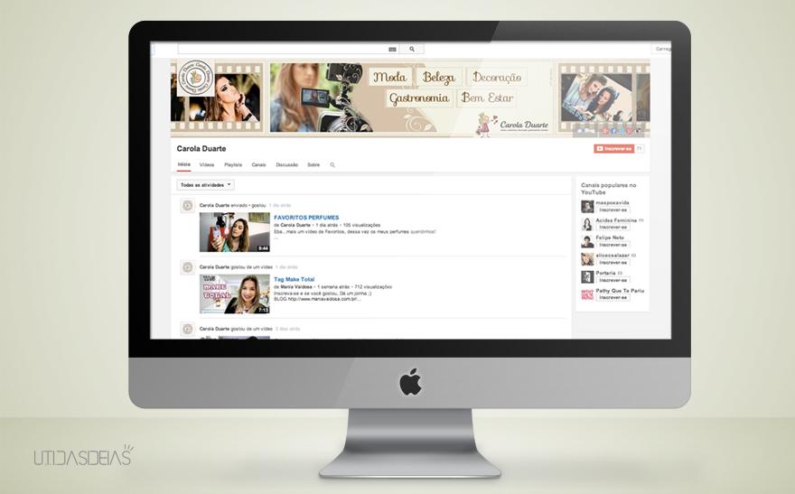 Criação de capa para Youtube